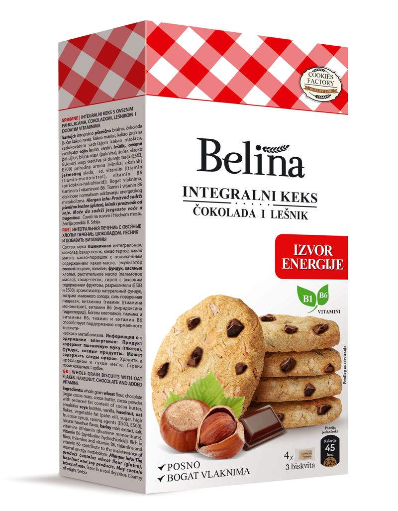 Integralni keks - čokolada i lešnik